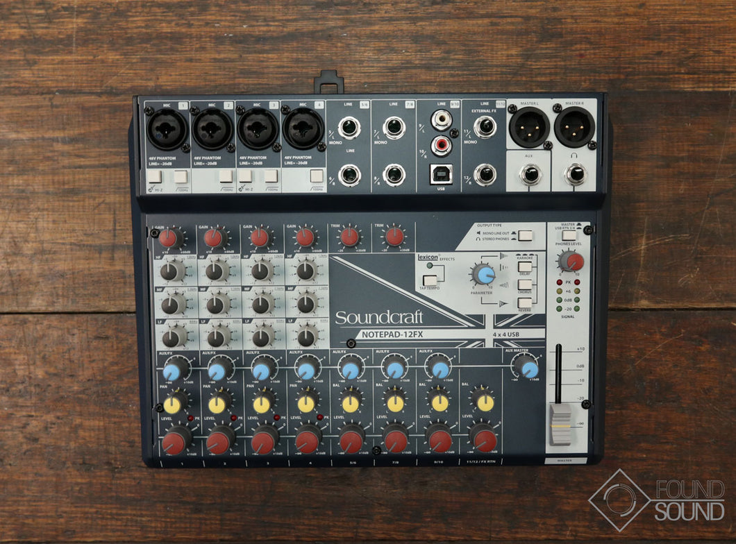 Soundcraft Notepad-12FX 12 Channel Compact Mixer