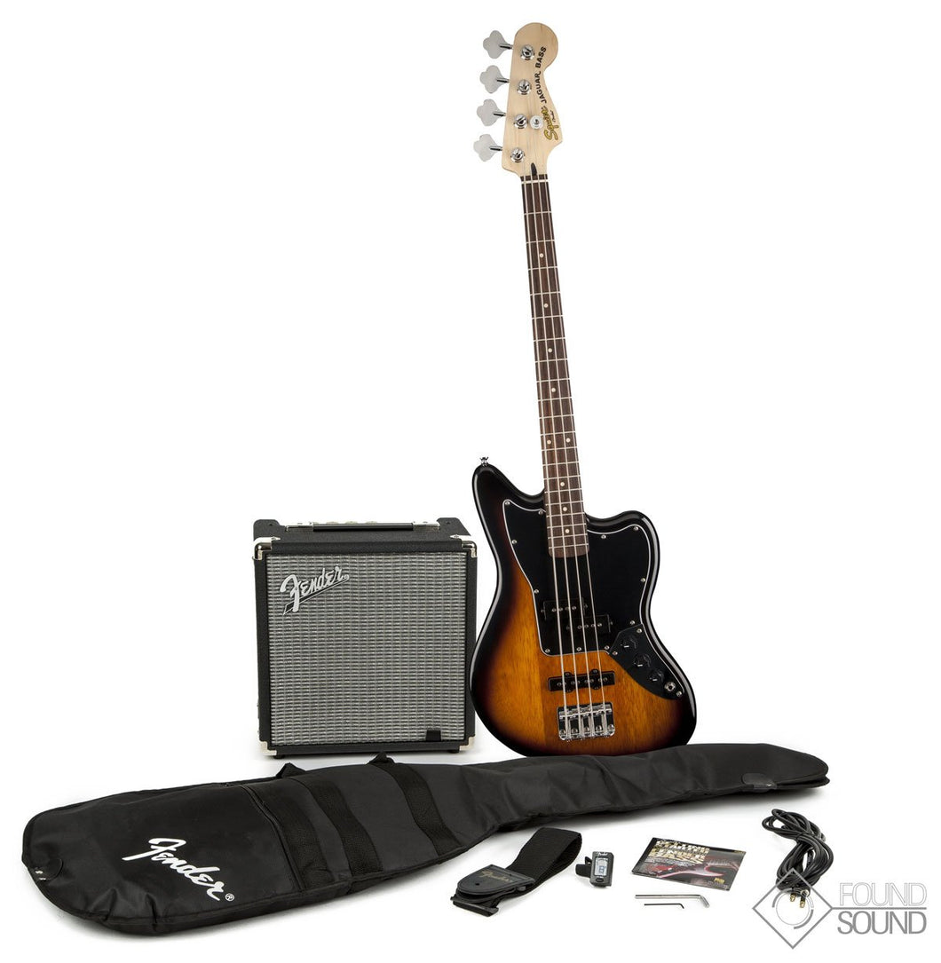 Fender Squier Jaguar Bass SS with Rumble Pack