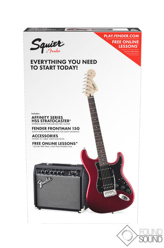 Fender Squier Affinity Series Stratocaster HSS Pack Candy Apple Red - Laurel Fingerboard