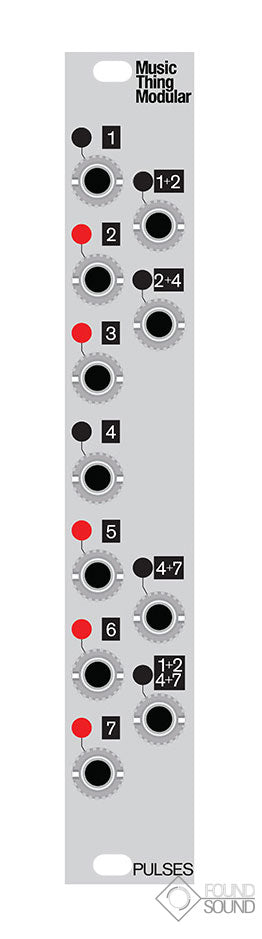 Music Thing Modular Turing Machine Pulses MkII Expander