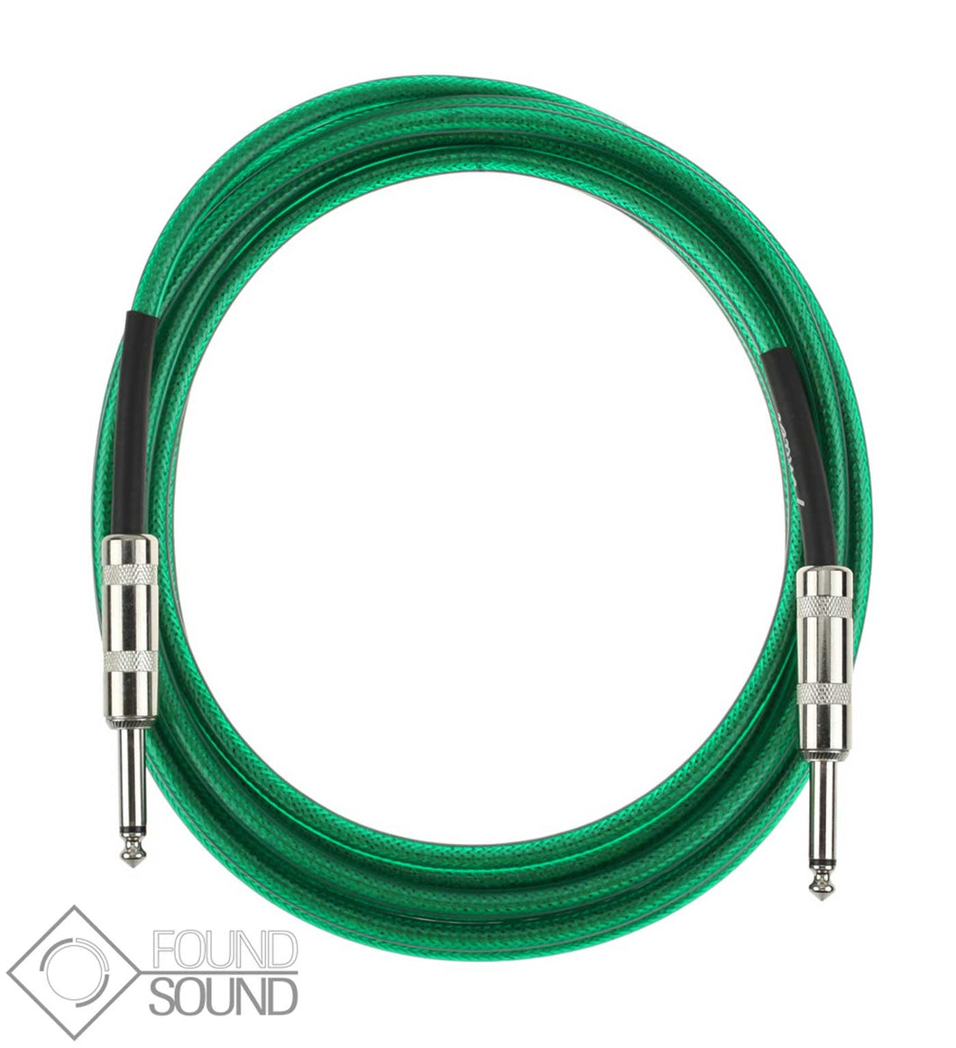 Fender California Series 15 Foot Instrument Cable (Green)