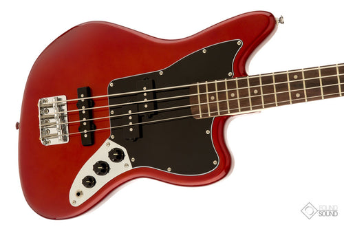 Fender Squier Vintage Modified Jaguar Bass Special SS - Candy Red - Laurel Fingerboard