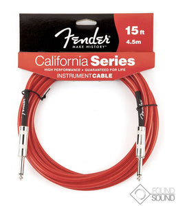 Fender California Series 15 Foot Instrument Cable (Red)