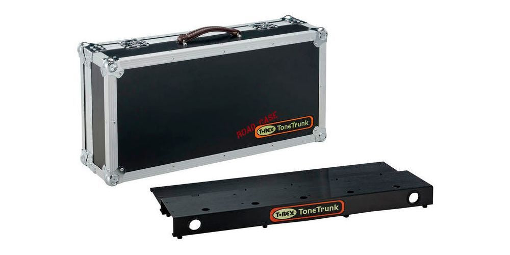 T-REX ToneTrunk 70 Road Case with Removable Pedal Board bonus Levelling Bracket and various patch cables