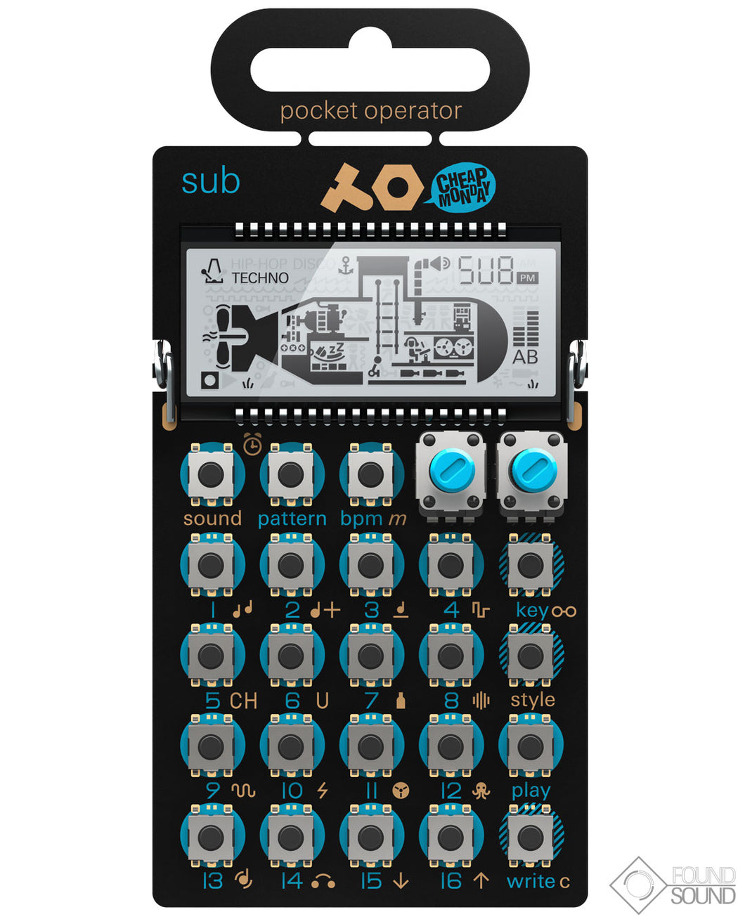 Teenage Engineering PO-14 Sub Pocket Operator Bass Synthesizer