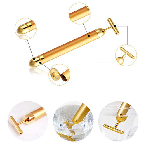 24k golden pulse beauty bar Vibrating Facial Massager