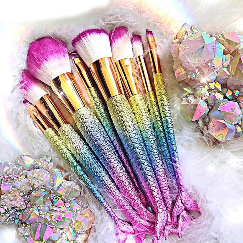 Professional Mermaid Makeup Brush Set