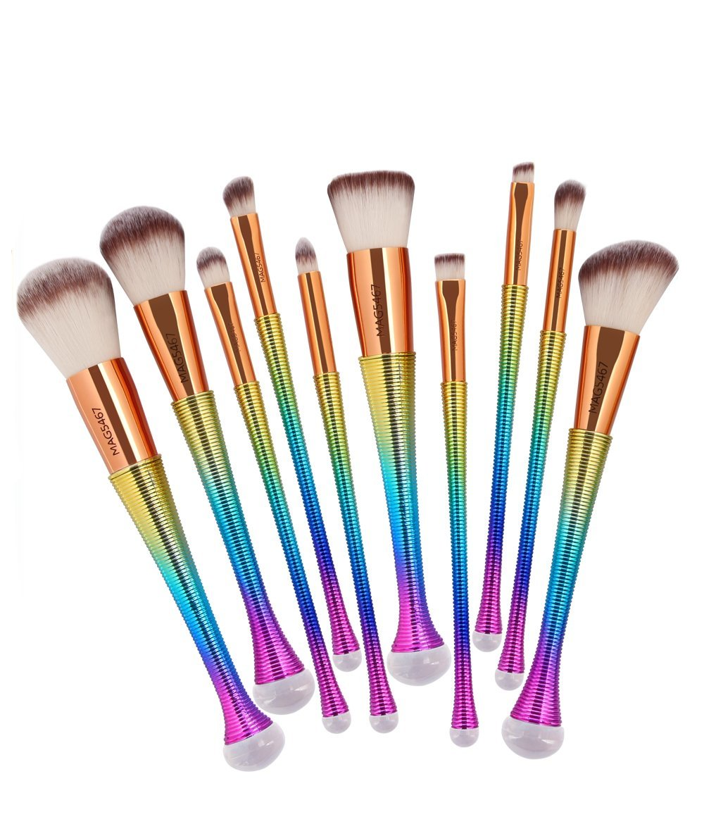 Rainbow Makeup Brush Set