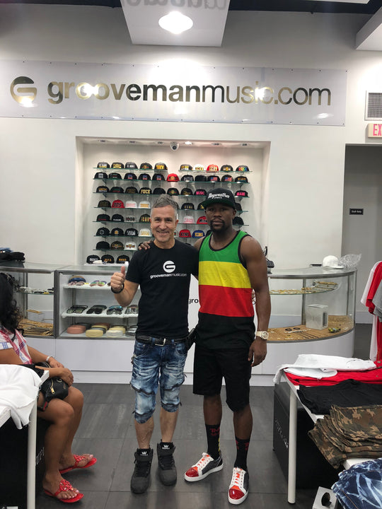 Floyd Mayweather at Grooveman Music