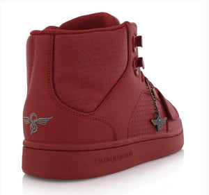 Creative Recreation Shoes Creative Recreation Cesario Hi Red Sneakers - Men