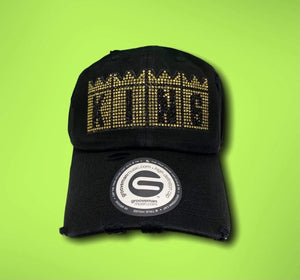 Grooveman Music Hats King Rhinestone Vintage Dad Hat
