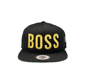 Grooveman Music Hats One Size / Black Boss 3D Snapback Hat