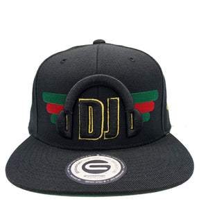 Grooveman Music Hats One Size / Black DJ Headphone Snapback