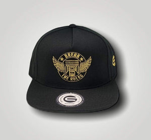 Grooveman Music Hats One Size / Black/Gold Break The Rules Cap