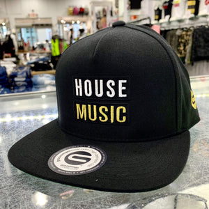 Grooveman Music Hats One Size / Black House Music Snapback Hat
