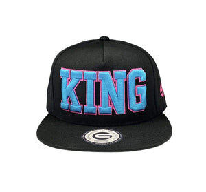 Grooveman Music Hats One Size / Black King Outline Snapback Hat