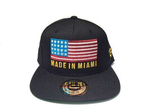 Grooveman Music Hats One Size / Black Made In Miami Flag Snapback