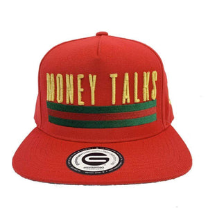 Grooveman Music Hats One Size / Black Red Money Talks Snapback Hat