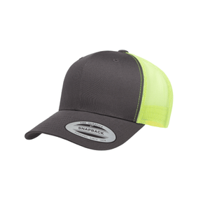 Grooveman Music Hats One Size / Gray Lime Classic Retro Trucker 2-Tone Cap