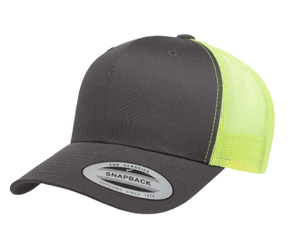 Grooveman Music Hats One Size Snapback / Lime Custom Embroidery 2-Tone Trucker Caps