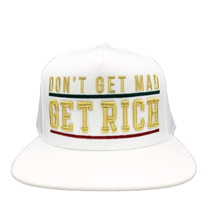 Grooveman Music Hats One Size / White Don't Get Mad Underline Snapback Cap