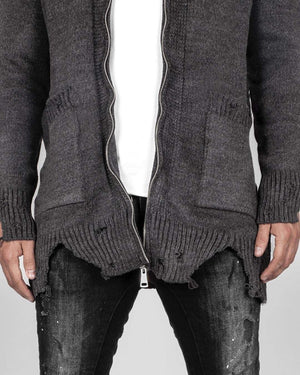 Grooveman Music Hoodies Netted Ripped Cardigan