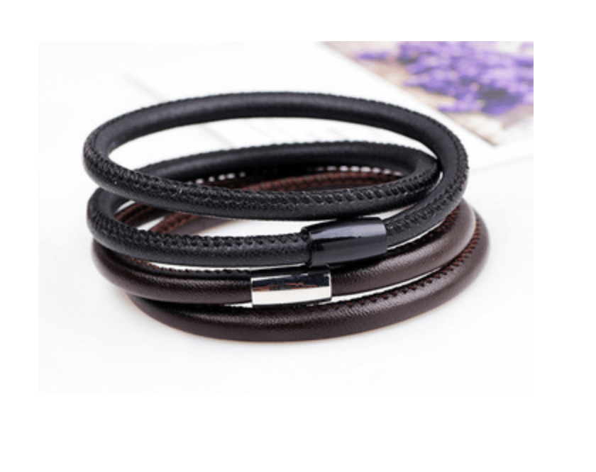 Grooveman Music Jewelry Flat Style Braided Leather Bracelet