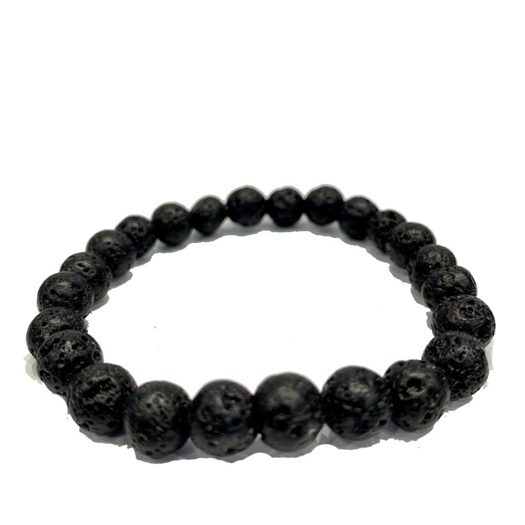 Grooveman Music Jewelry One size / Black-Silver Black Volcanic Stone Bracelet