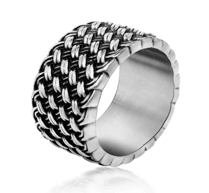 Grooveman Music Jewelry Stainless Steel Silver Ring