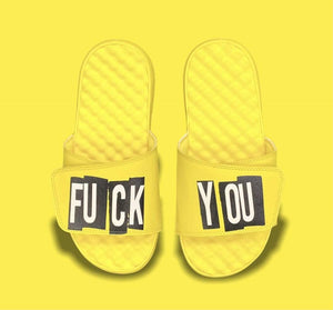 Grooveman Music Shoes Grooveman Fuck You Slides Yellow