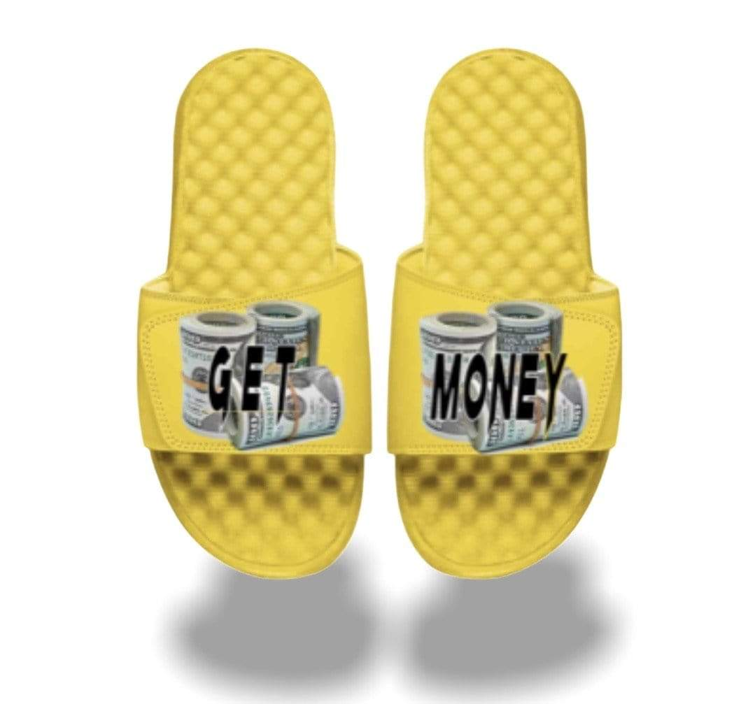 Grooveman Music Shoes Grooveman Get Money Roll Slides Yellow