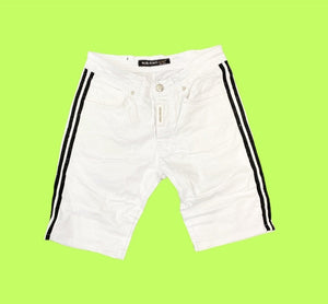 Grooveman Music Shorts White Skinny Rhinestone on the side Short