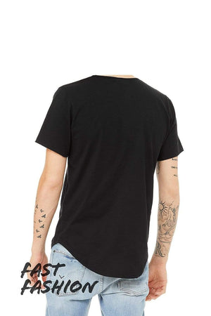Grooveman Music T Shirt Jersey Short Sleeve Tee with Curved Hem