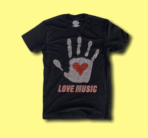 Grooveman Music T Shirt Rhinestones T Shirt | Love Music