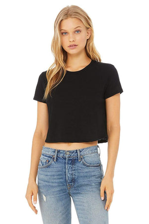 Grooveman Music Tunics Small / Black Flowy Crop Top Tee