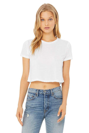 Grooveman Music Tunics Small / White Flowy Crop Top Tee