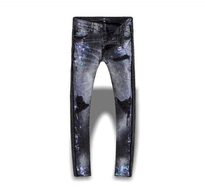 Jordan Craig Jeans Ross Vegas Striped Denim Jeans - Black with Black Diamond Stripe