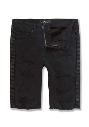 Jordan Craig Shorts Ross Vegas Striped Denim Black Shorts