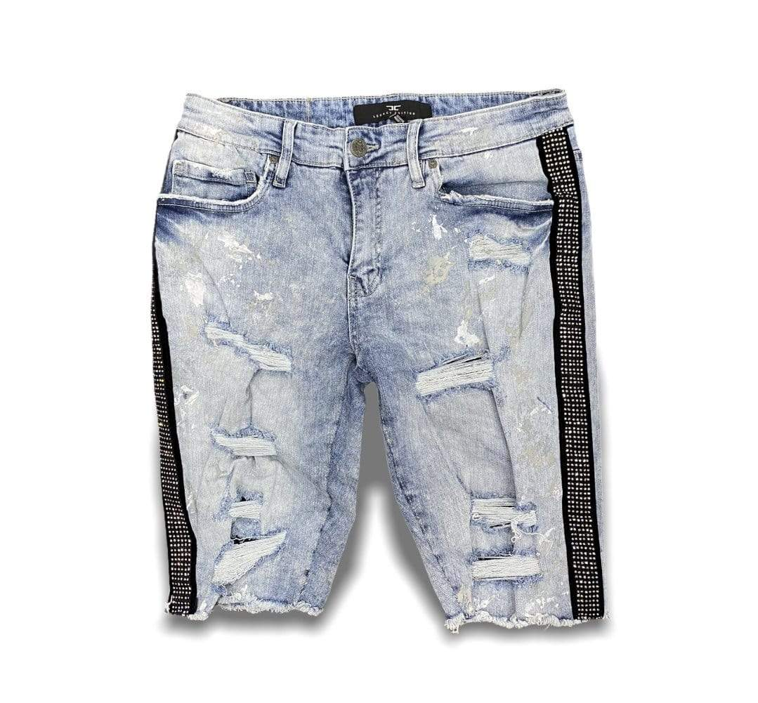 Jordan Craig Shorts Ross Vegas Striped Denim Blue Shorts