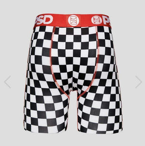 PSD Underwear Underwear Red Roses With Checkers Boxer Brief