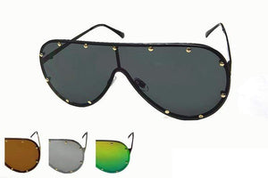 Rebel Groove Aviator Sunglasses with Metal Studs M41073SD