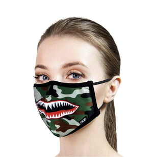 Rebel Groove Face Mask One Size Warplane - Unisex One Size Face Mask