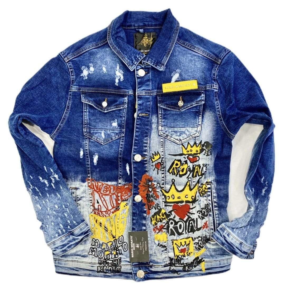 Rebel Groove Jackets Denim Blue Royal King Jacket