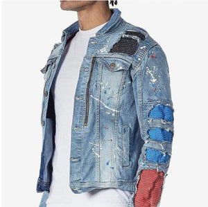 Rebel Groove Jackets Denim Ripped Jacket