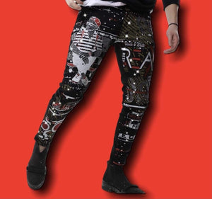 Rebel Groove Jeans Skinny Denim Rhinestone to the Future Jeans