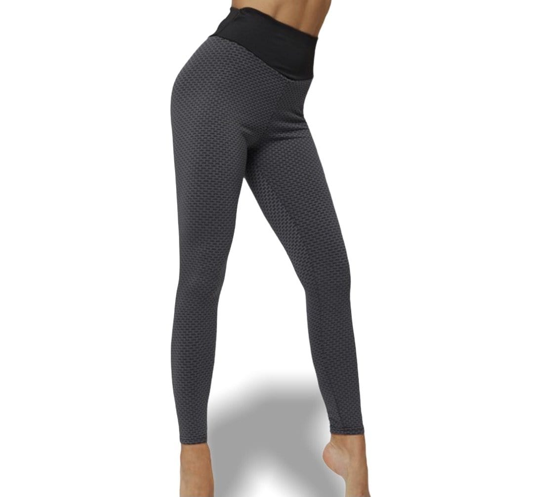 Rebel Groove Leggins Texture Black scrunch butt lifted active