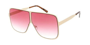 Rebel Groove Pink Metal Oversized Flat Frame Sunglasses 4750