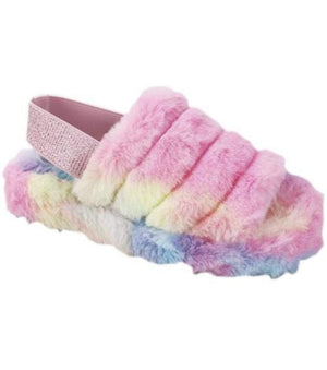 Rebel Groove Shoes Casual Multi Fur Sandals
