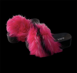 Rebel Groove Shoes Platform Fur Sandals