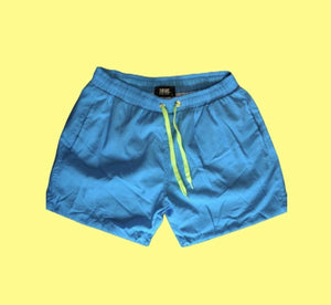Rebel Groove Shorts Neon Blue Swim Shorts